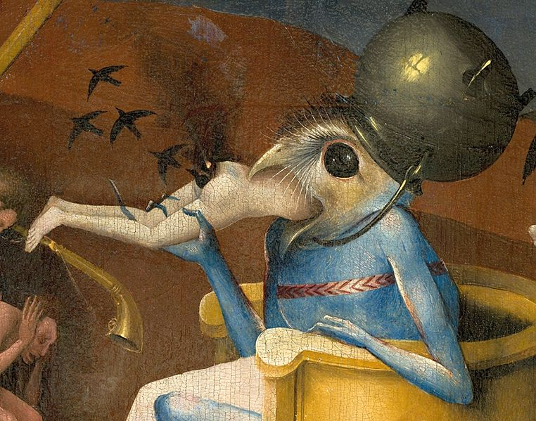 Bosch%2C_Hieronymus_-_The_Garden_of_Earthly_Delights%2C_right_panel_-_Detail_Bird-headed_monster_or_The_Prince_of_Hell_-_close-up_head_%28lower_right%29