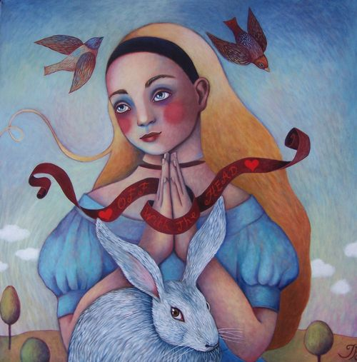 "Saint Alice 24""x24"" by Isabelle Bryer"