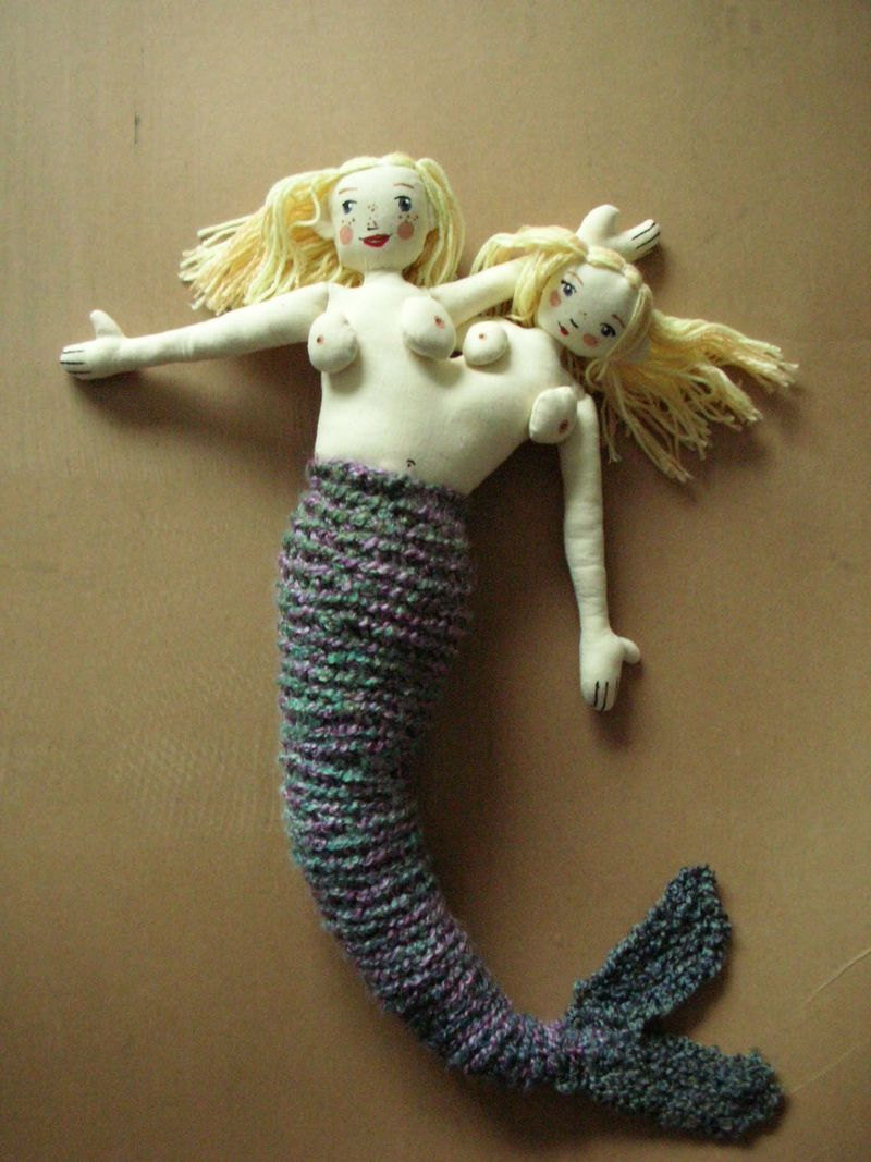 Siamese twin mermaid