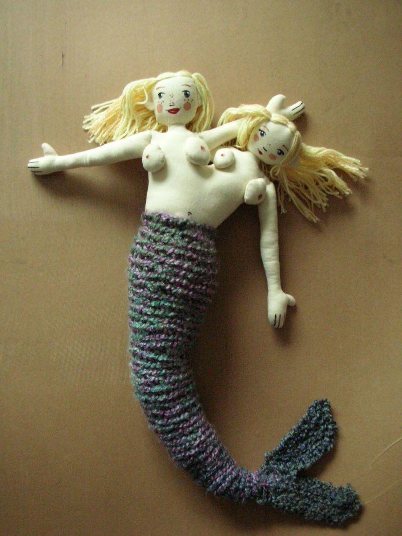 Siamese twin mermaid