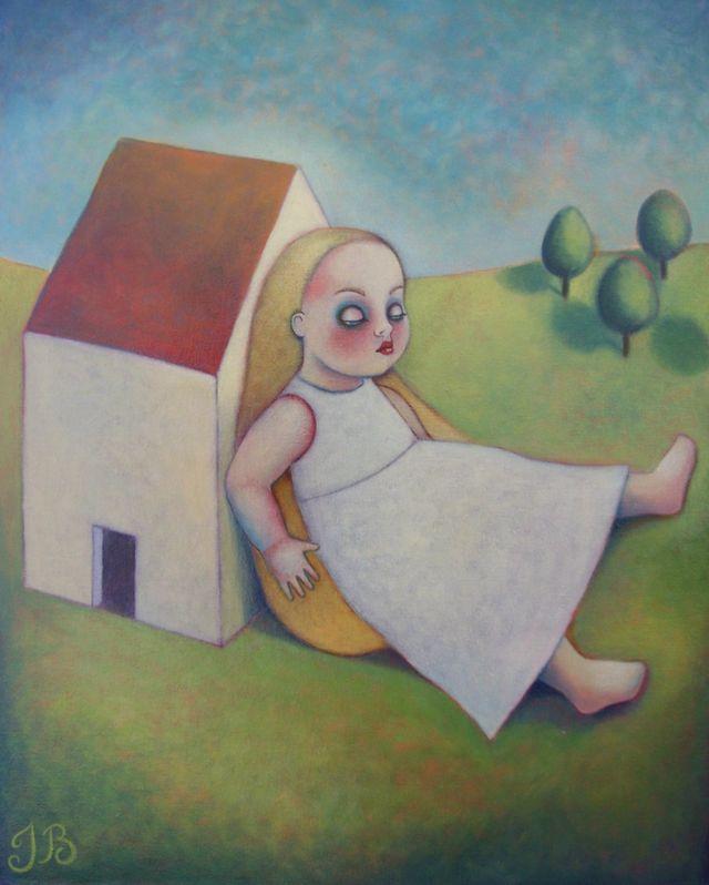 "Doll in Landscape 1  16""x20"""