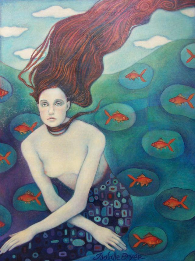 "Klimt's Mermaid 36""x48"""