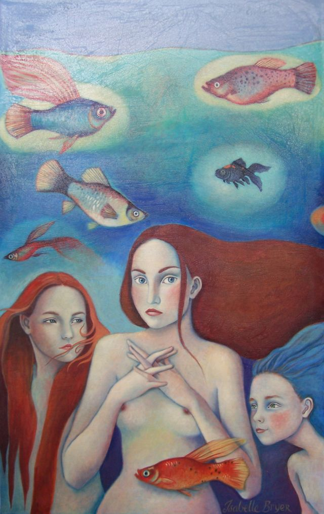 "Mermaid Family 30""x48"""