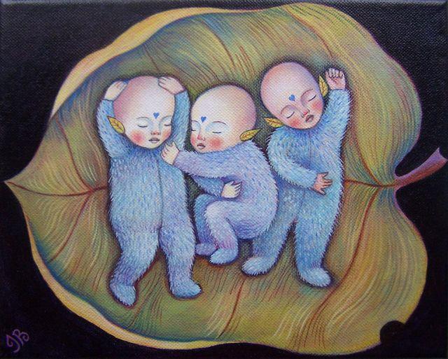 "Indigo Babies 8""x10"""