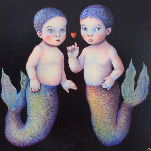 """Aquarian Babies 20""""x20"""""""