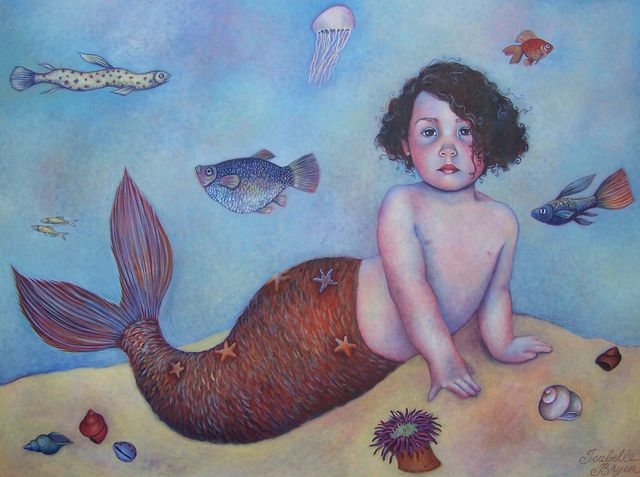 "Baby Mermaid 36""x48"""
