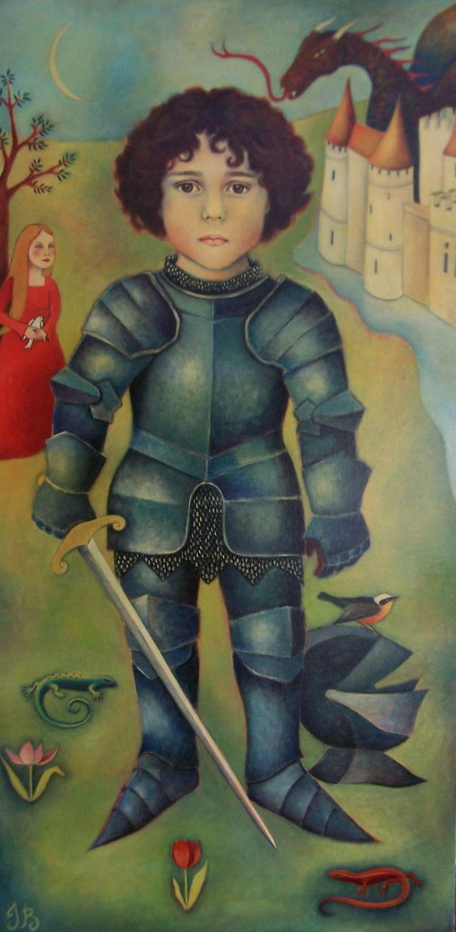 Julien as a Knight