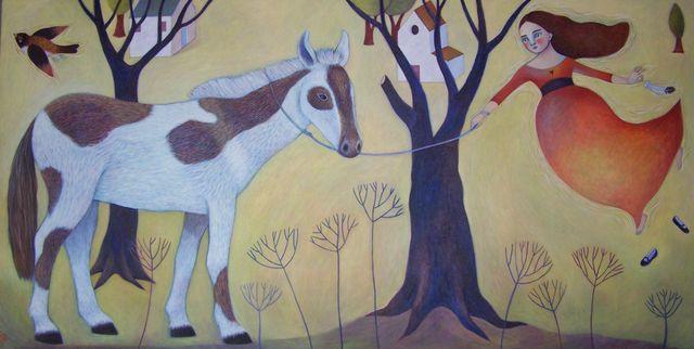 """Horse Tales 24""""x48"""""""